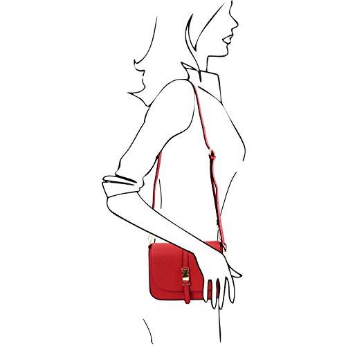 Tuscany Leather Nausica - Borsa a tracolla in pelle Ruga - TL141598 (Magenta) Rosso
