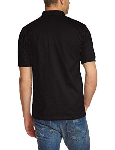 Trigema Herren Poloshirt Brusttasche, Einfarbig Schwarz (Schwarz 008)