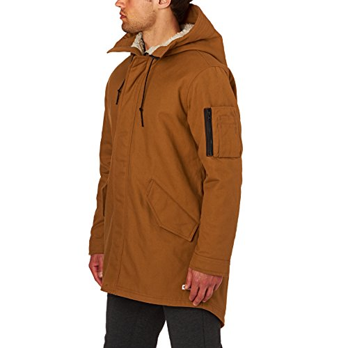 Converse Quilted Fishtail Parka in Antique Sepia Orange