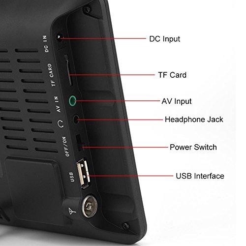 "41nhJLvGVLL - 11,6 Pulgadas TV portátil, LED pequeña Televisión con TDT DVB-T/T2 Dos Altavoz TV Digital con 1500 mAh baterías Recargables y Mando a Distancia para cámara, Cocina, Caravana, Coche (9""-1200mah)"