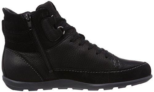 ECCO CAYLA Damen Combat Boots Schwarz (BLACK/BLACK 51052)