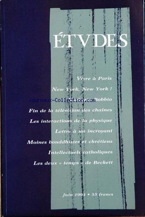 ETUDES du 01/01/1992