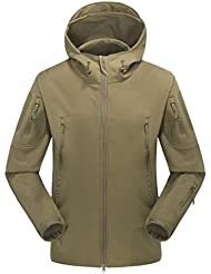 NiSeng Militar Chaqueta Softshell Hombres Impermeable Táctico Combate Capucha Windstopper Soft Shell