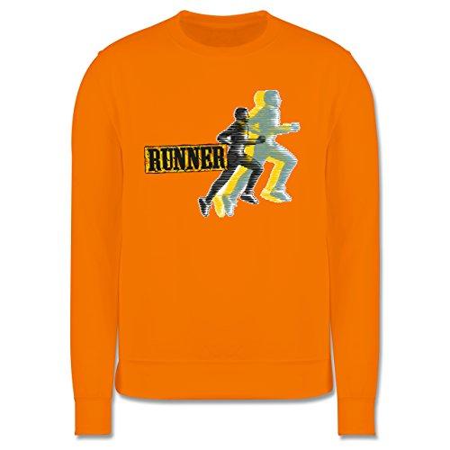 Laufsport - Runner - Herren Premium Pullover Orange