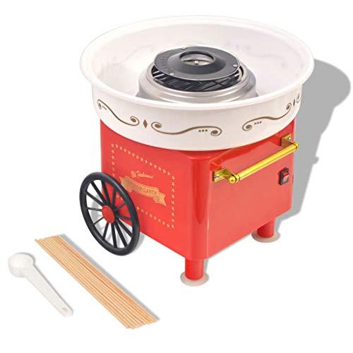 VidaXL 50509 480W Rojo, Blanco algodonera de azúcar - Máquina de algodón de azúcar (480 W, 220-240, 300 mm, 300 mm, 275 mm)