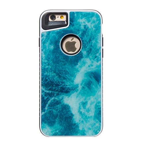 ARTLU® 2in1 Coque iPhone 6 6S (4.7), Coque Housse Case Bumper Étui Coque de Protection en TPU Silicone Ultra Slim Mince Léger Antichoc Housse Case iPhone 6 6S Coque Dessin Marbre-A05 A10