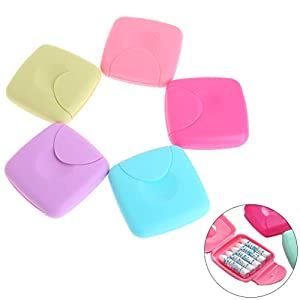 hgfcdd Portable Women Sanitary Napkin Tampons Storage Box Candy Color Container Holder