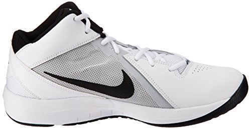 Nike the Air Overplay Ix, Chaussures de Sport-Basketball Homme Blanc (White/Black-Pure Platinum)