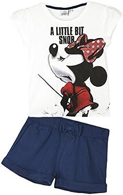 Conjunto veraniego para niña de pantalones cortos y camiseta, diseño de Minnie Mouse de Disney, de 2a8años, colección de 2016