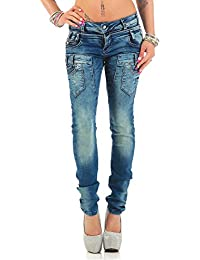 Cipo & Baxx Damen Jeans Hose Freizeit Slim-Fit