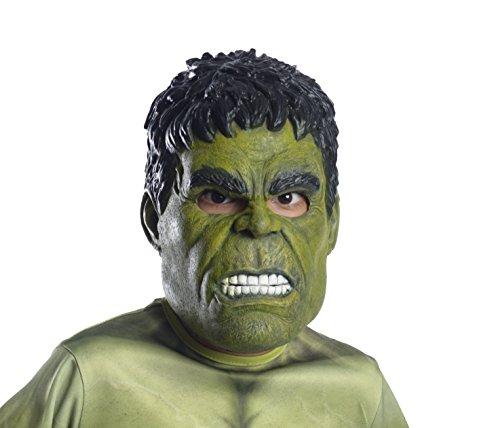 für Kinder Lizenzartikel Grün-Schwarz Einheitsgröße (Hulk Maske)