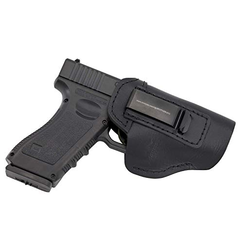 MAYMOC Der Defender IWB Leder für S & W M & P Shield - Glock 17 19 22 23 32 33 (Recht) (Holster Xd 45)