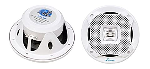Pyle Marine Lautsprecher (400 Watt, 12,7 cm (5,25 Zoll), 2-Wege) weiß