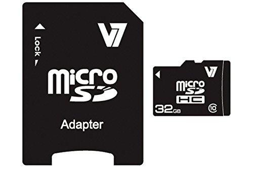 V7 VAMSDH32GCL10R-2E Class 10 microSDHC 32GB Speicherkarte