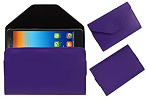 Acm Premium Pouch Case For Lenovo S860 Flip Flap Cover Holder Purple
