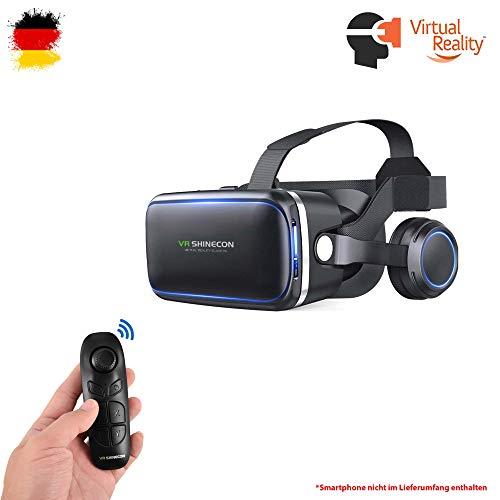 Himoto HSP Universal VR 3D Virtual Reality Brille mit Kopfhörer Headset und Bluetooth-Controller für Smartphones mit Einer Größe von 4.7 bis 6 Zoll, kompatibel mit Allen gängigen Hersteller