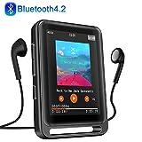MP3 Player, 16GB Bluetooth MP3 Player mit 2.4' LCD Touchscreen, Sports MP3 Player mit Kopfhörer/FM Radio/Voice...