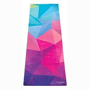 Yoga Design Lab Combo Yogamatte 3,5mm | rutschfest, Matte/Handtuch, Guter Halt bei viel Schweiß, Naturkautschuk | mit Tragegurt