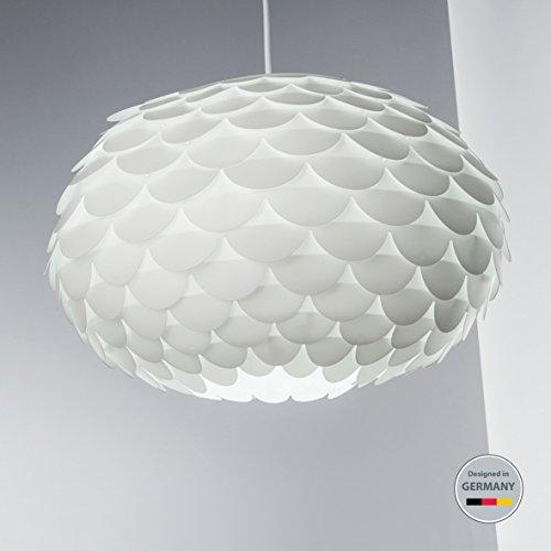B K Licht Hangelampe Weiss Hangeleuchte Led Retro Deckenleuchte Deckenlampe Flur Pendelleuchte Kuche Modern Wohnzimmerlampe Kuchenlampe