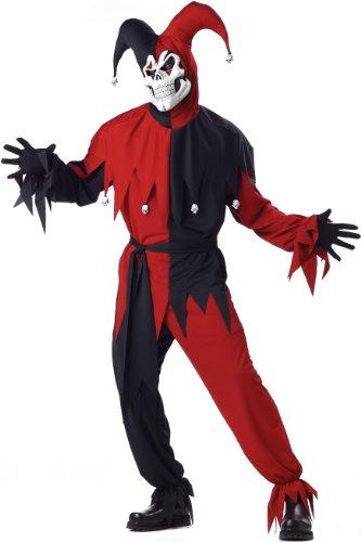 Costume-Monstre-Bouffon-Noir-et-Rouge
