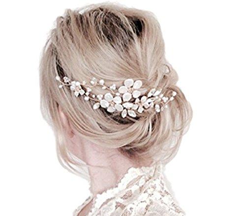 Fashion Jewery Damen Haarschmuck Accessoires Haarkamm Haarkämme Haarblumen Haargesteck Kristallen Kristall Hochzeit Strass WEISS Braut Haarschmuck handarbeit