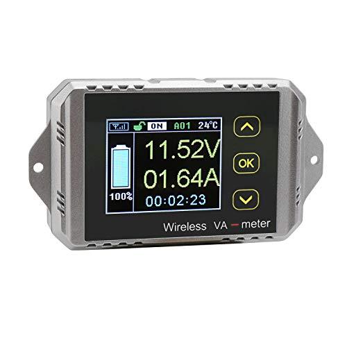 Digitale Amperometro Voltmetro, Droking Multimetro Senza fili DC 0-100V 0-100A Volt Misuratore corrente Tensione AH Tempo Potenza watt Tester Tensione batteria Scarica misuratore di monitoraggio