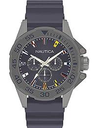 Nautica Reloj Analógico para Hombre de Cuarzo con Correa en Silicona NAPMIA004