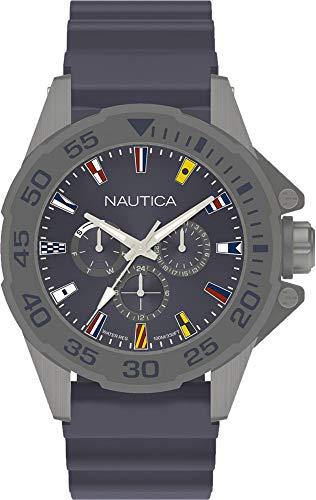 067ebaa6e832 Nautica Reloj Analógico para Hombre de Cuarzo con Correa en Silicona  NAPMIA004