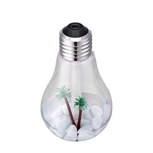 Ätherischer Öl Diffusor, HGFKJ 400Ml Lampe Luftbefeuchter Home Aroma Led Luftbefeuchter Luft Diffusor Luftreiniger ZerstäUber (SLIBER) (Zimmer Essentials Ball)