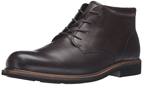 Ecco Men's Findlay Plain Toe Chukka Boot, Coffee, 40 EU/6-6.5 M US