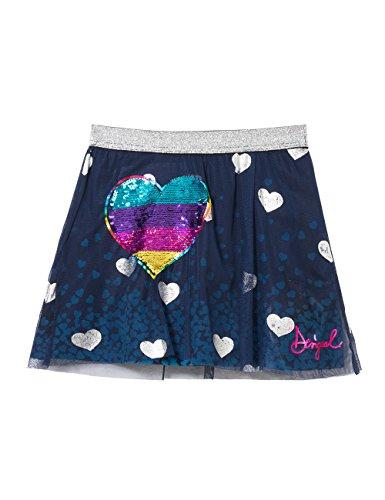 Desigual Mädchen FAL_Icono Rock, Blau (Navy 5000), 164 (Herstellergröße: 13/14) (Navy Girl Kostüm)