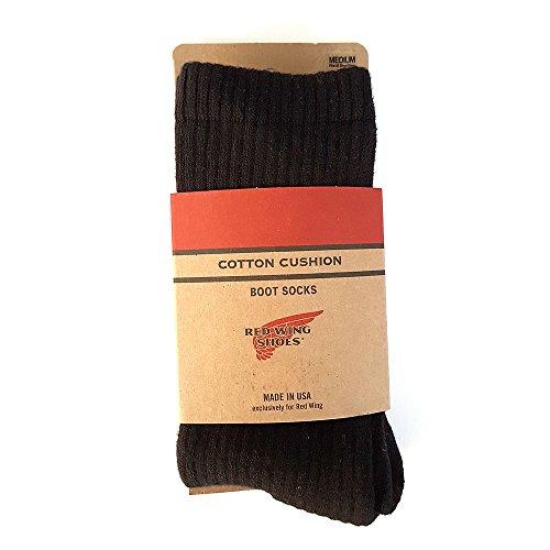 Cotton Wing (Red Wing Cotton Cushion Boot Socks black, Größen:L)