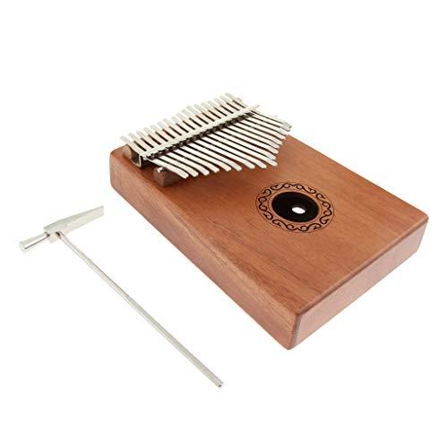 Holz Kalimba Daumenklavier Kinder Musikinstrument mit Aufbewahrungstasche, Tuning-Tool