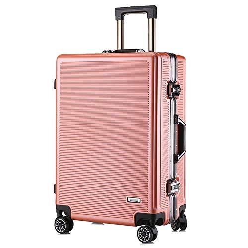 XDD 20-Zoll-Gepäck, Leichter PC-Hartschalenreisetrolley mit 8 Rädern, wasserdichte Unisex-Gepäcktasche TSA Password Box-Handtasche, strapazierfähiges Hartschalengepäck für die Business Academy,A