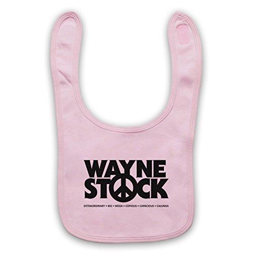 Inspiriert durch Waynes World 2 Waynestock Inoffiziell Baby Latzchen, Hellrosa