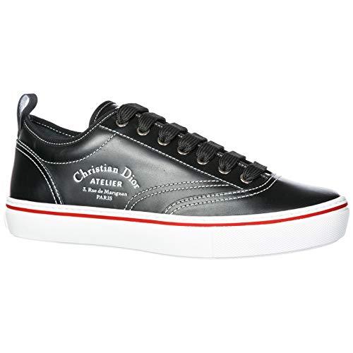 Dior Herrenschuhe Herren Leder Schuhe Sneakers Schwarz EU 42 3SN229YAL