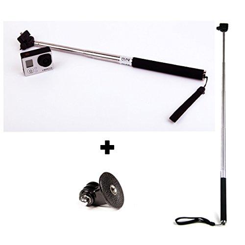 monopiede telescopico per gopro OVNI ® Braccio estensibile per gopro particolarmente indicato per tutte le fotocamere e le videocamere digitali *** adattatore per treppiede gopro ***