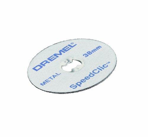Dremel SC456 EZ Speedclic Metall-Trennscheiben, ø 38 mm, Trennscheibe Set (mit 12 Zubehören zum Schneiden von Metallen)