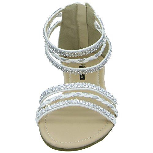 living Updated LCB052-151225-3 Damen Sandalette bis 30mm Absatz Weiß (Weiß)
