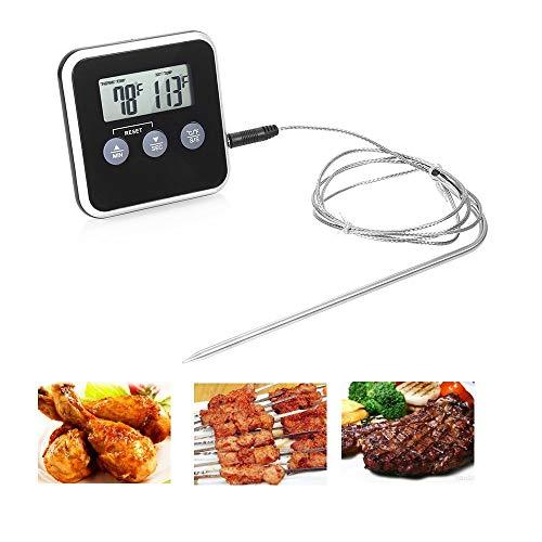 BAIYI Backofen Küche Grill Sonde Alarm Lebensmittel elektronische Thermometer Küchentimer Timer