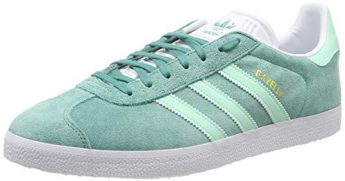 adidas Gazelle, Zapatillas de Gimnasia para Hombre, Verde True Green/Clear Mint/FTWR White, 41 1/3 EU