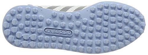 adidas La Trainer Em, Chaussures de Running Compétition Femme Blanc (Footwear White/Silver Metallic/Clear Sky)