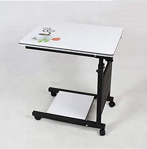WY-ZDDNZ Portable Computer-Schreibtisch, Klappbar, Höhenverstellbar Beweglich Drehen, Geeignet Für...