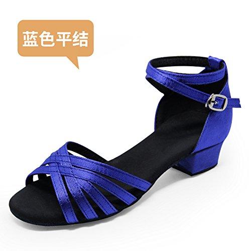 Wuyulunbi@ ballo latino sala da ballo scarpe da ballo le scarpe da ballo 802 prenolepis blu