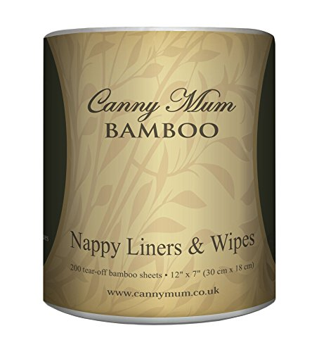 CannyMum Windelvlies & Tücher aus Bambus. Trockene Tücher oder selbstgemachte Feuchttücher. (200 Blatt/Rolle)