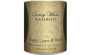 CannyMum Salviette & Fodere per pannolino in Bambù. Biodegradabile