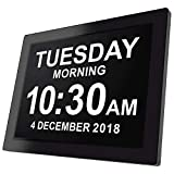 Black : [Newest Version] Day Clock - Extra Large Impaired Vision Digital Clock