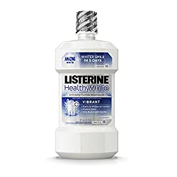 Listerine Whitening Vibrant Anticavity Mouthrinse, Clean Mint, 16 Fluid Ounce