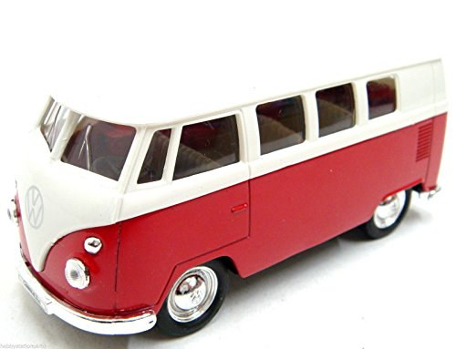1963-Volkswagen-T1-Bus-Toy-Caravan-Toy-Car-Die-Cast-Camper-Van-Pull-Back-Action