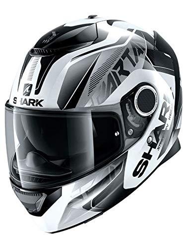 Shark Casco de motocicleta Sparan 1.2 KARKEN WKK, color blanco/negro, M